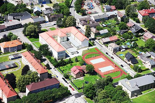 Letecký pohled na naši školu